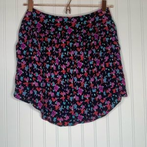 Anthropologie silence + noise black purple skirt